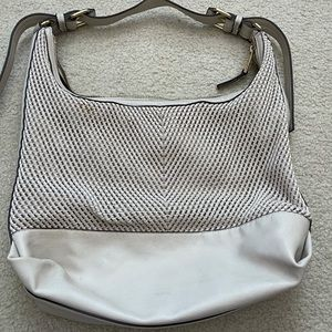 French Connection woven shoulder bag